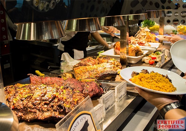 Vikings SM Megamall has the most meats at their carving station