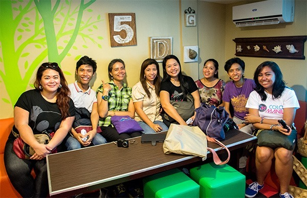 Bloggers who joined the Malabon food tour - at M Flores in Malabon