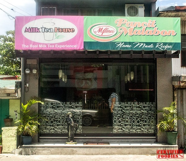 M Flores in Malabon - Pancit Malabon and Milk Tea