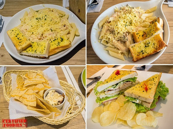 Pasta, nachos, sandwiches at Cups and Cones in Malabon