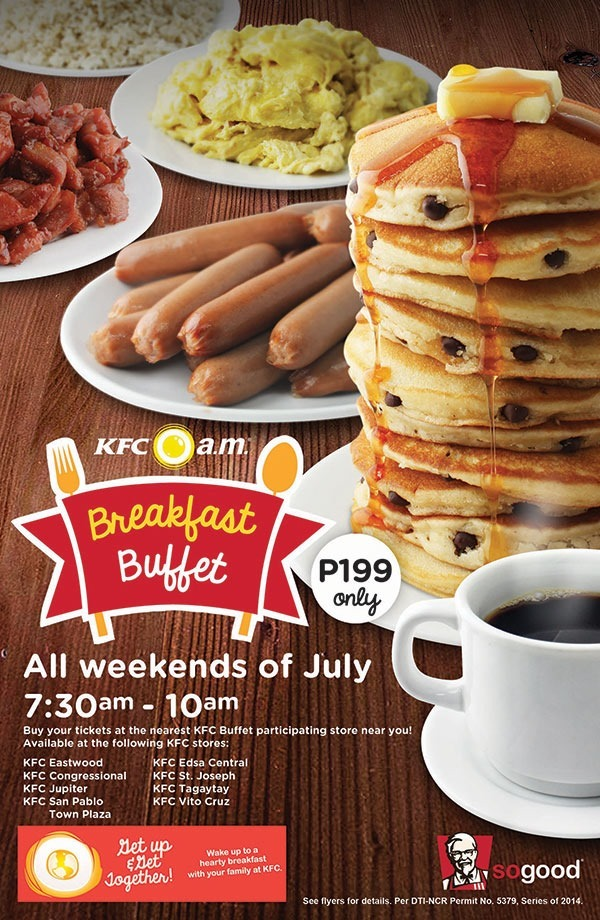 KFC's Breakfast Buffet - unlimited servings!