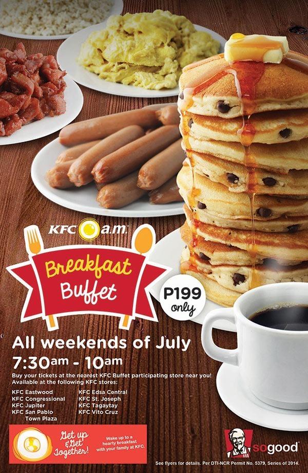KFC's Breakfast Buffet - unlimited servings!