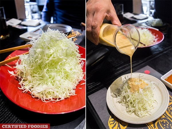 Unlimited Shredded Japanese Cabbage at Kimukatsu