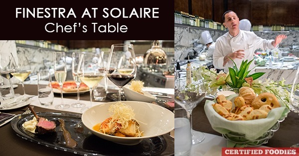 Chef's Table at Finestra in Solaire Resort and Casino