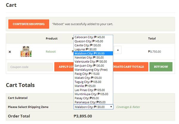 Juiceria Cleansae - Ordering online