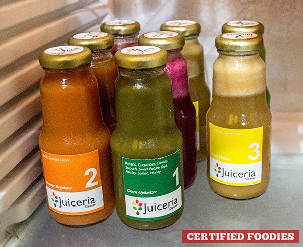 Juiceria Cleanse Bootcamp program with 8 bottles