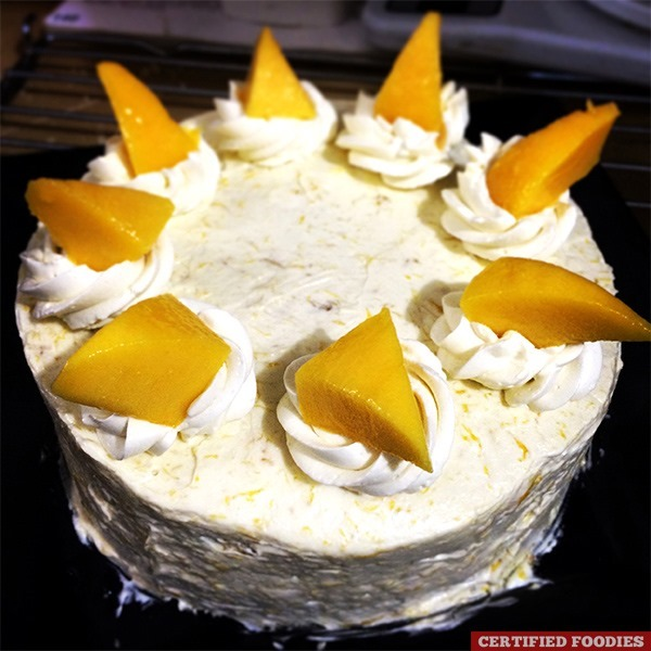 Final Microwave Mango Buttercream Cake