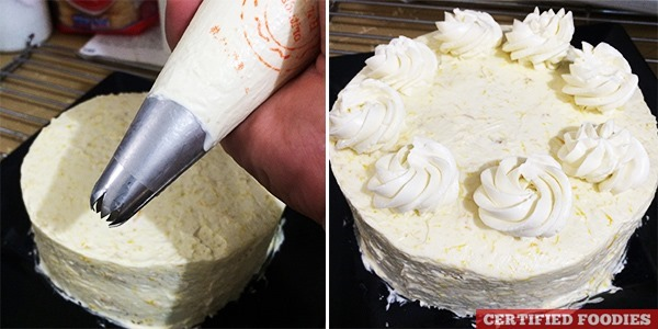 Piping the Cake with Buttercream