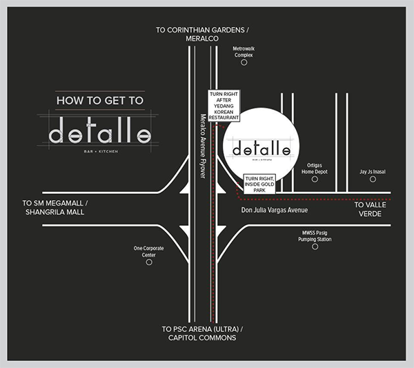 How to get to Detalle Bar and Kitchen in Ortigas