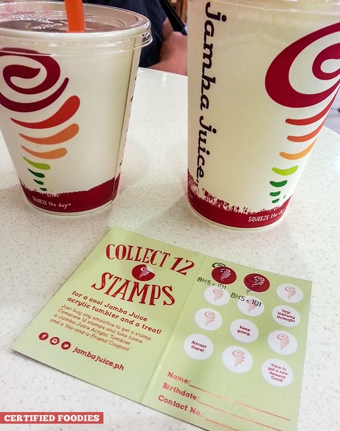 Jamba Juice Reward Card for Jamba Mixplorers