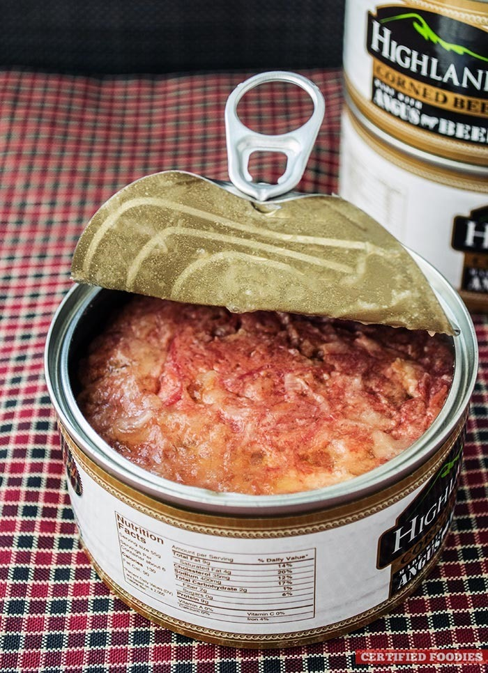 how to open corned beef can