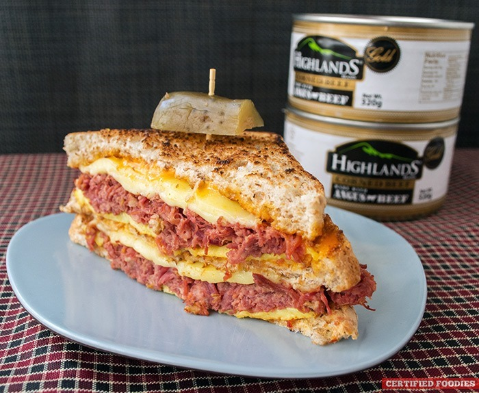 Highlands Gold Corned Beef with Sriracha Mayo Sandwich
