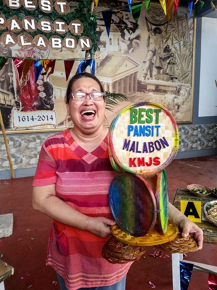 Nanay's Net Ignacio who won the Battle of the Best Pansit Malabon