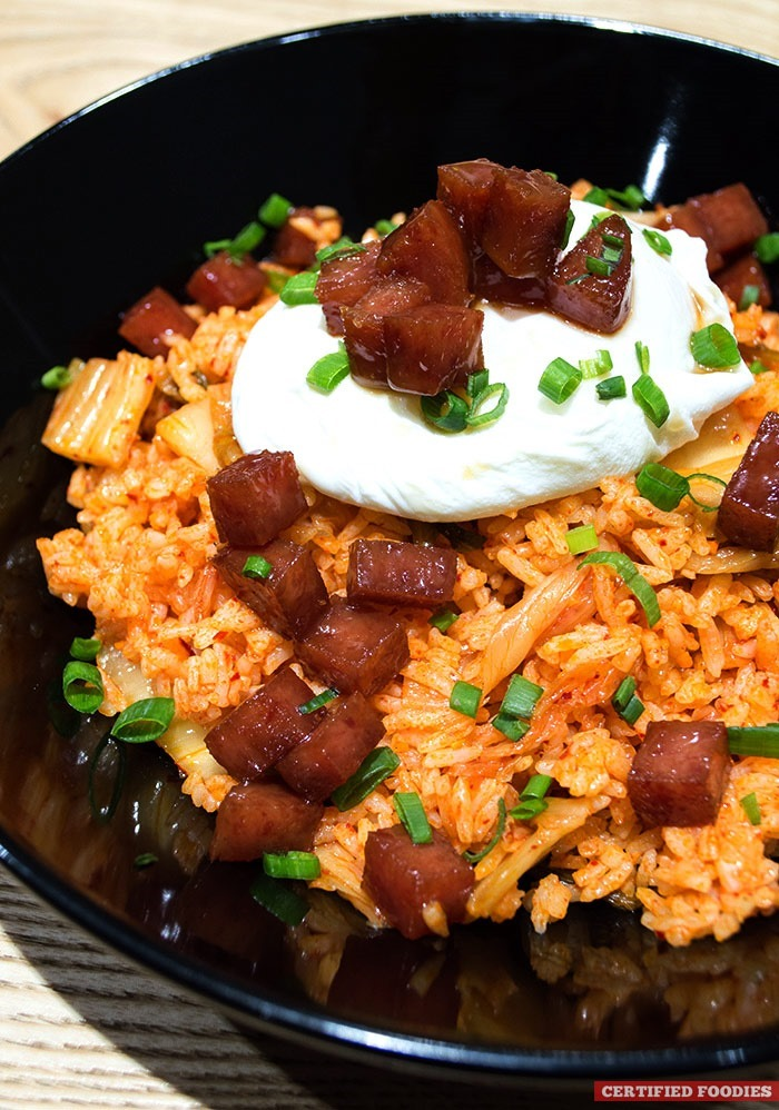 Kimchi Fried Rice with Caramelized SPAM from Cops and Robbers