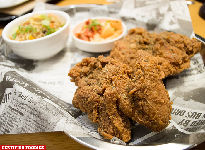 Bad Bird Fried Chicken with Dirty Rice at Hole in the Wall Century City Mall