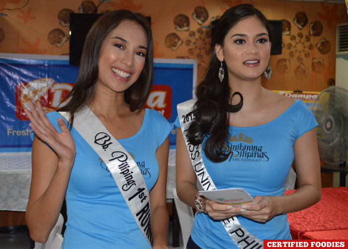 Binibining Pilipinas 2015 Pia Alonzo Wurtzbach and Hannah Ruth Sison for Araneta Center