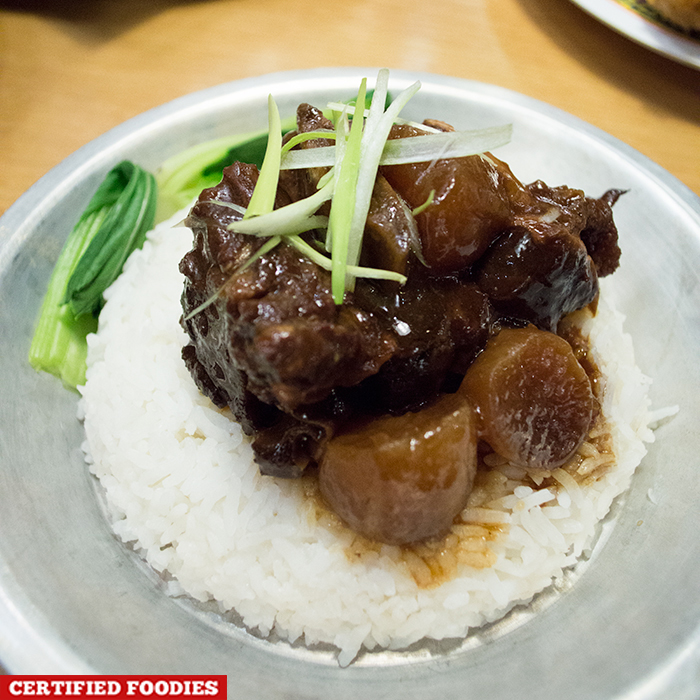 Braised Beef from Kwong's Provision in Hole in the Wall Century City Mall