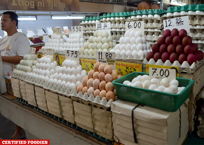 Egg Section at Farmers Market Araneta Center