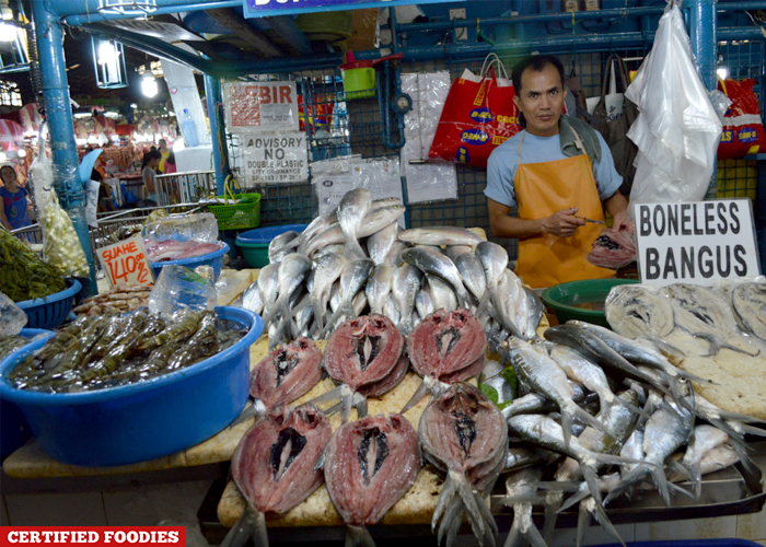 Fresh Fish Section at Farmers Market Araneta Center