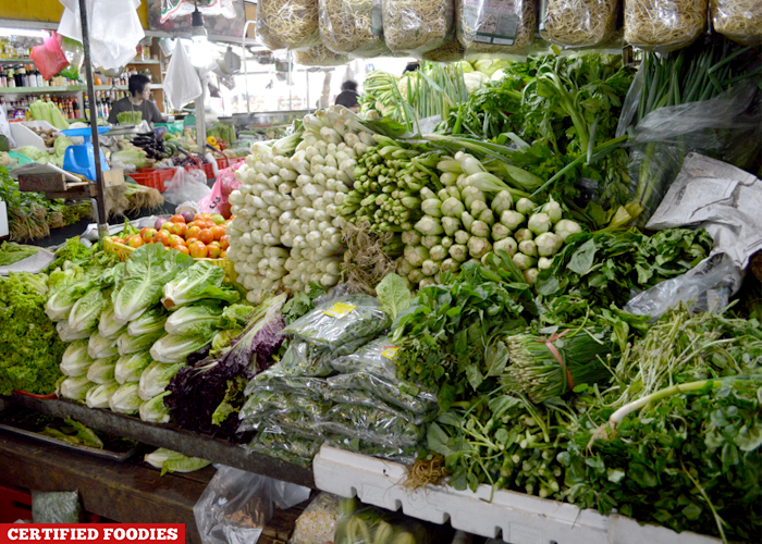 Fresh Vegetables Section at Farmers Market Araneta Center
