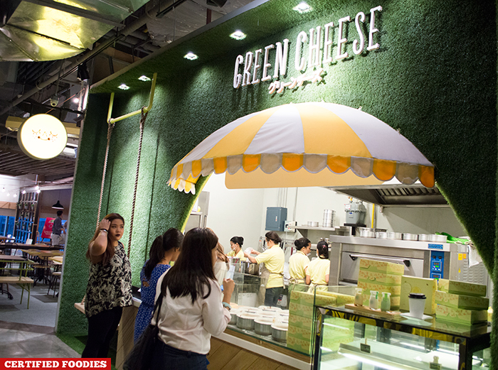Green Cheese Cheesecake at Hole in the Wall Century City Mall