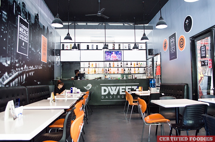 Interior of Dweet Gastropub The Collective Makati