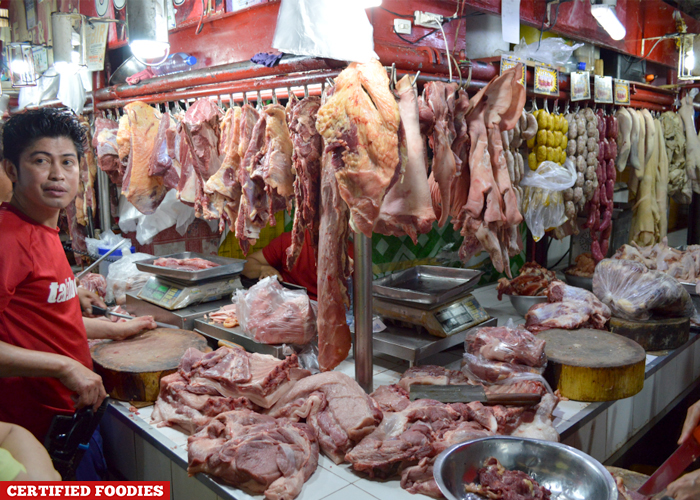 Meat Section at Farmers Market Araneta Center