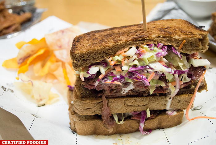 Pastrami Reuben from Mister Delicious in Hole in the Wall Century City Mall