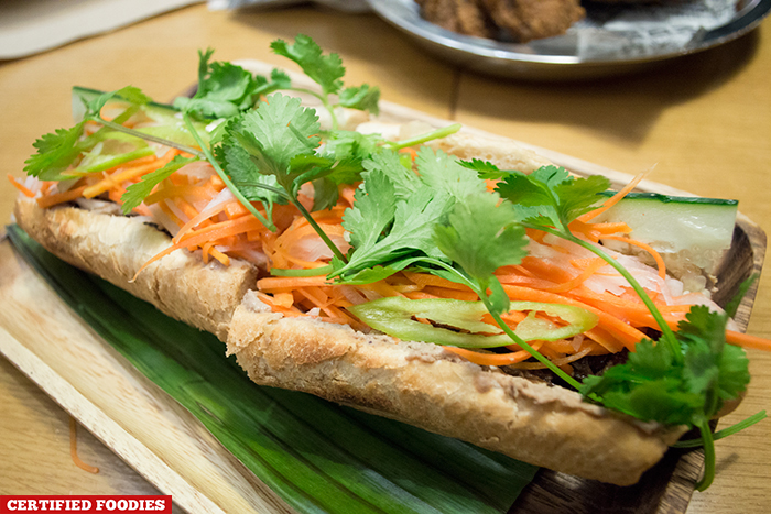 Spicy Tamarind Ox Tail Banh Mi from Phobobo Hole in the Wall Century City Mall