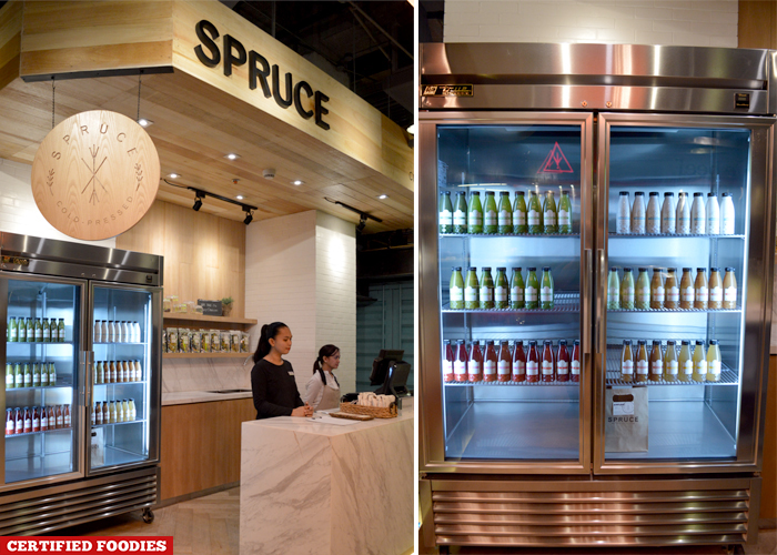 Spruce Cold Pressed Juices at Hole in the Wall Century City Mall