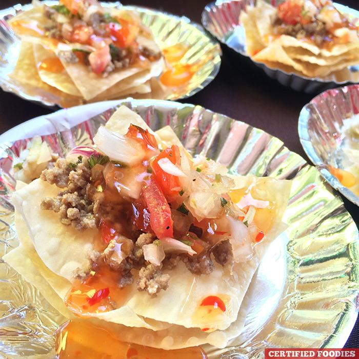 Asian Nachos with Salsa at McCormick Flavor Nation Festival in Bonifacio High Street