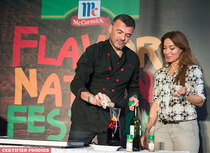 Chef Xavier Btesh and Sabrina Artadi for McCormick Flavor Nation Festival