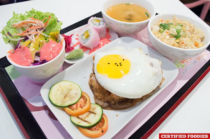 Chicken Katsu Sakura Bento Tray from Tokyo Bubble Tea