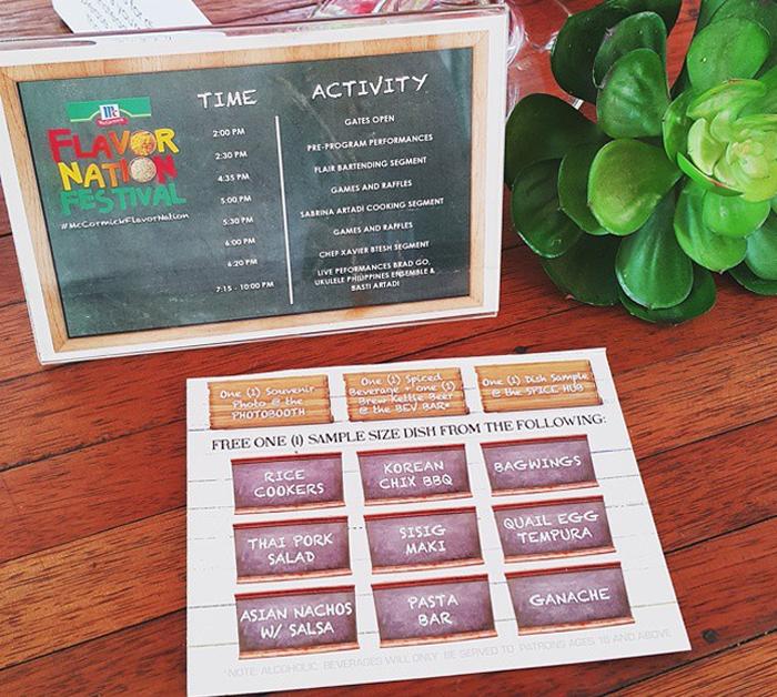Event Passport for McCormick Flavor Nation Festival in Bonifacio High Street Taguig
