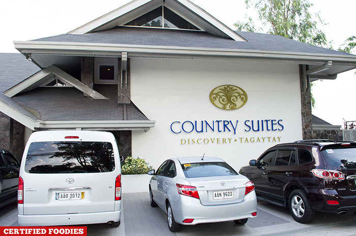 Facade of Discovery Country Suites in Tagaytay