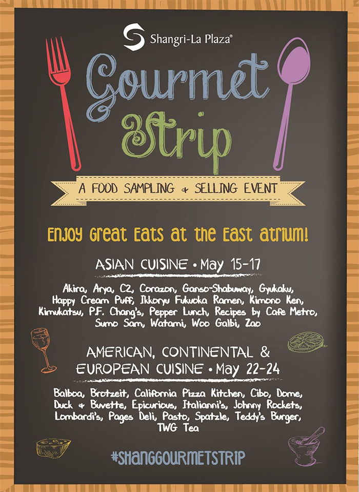 Gourmet Strip at Shangri-La Plaza Event Poster