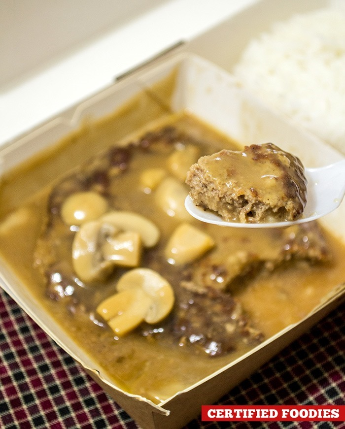 Jollibee Big Burger Steak - as thick as the Champ burger patty