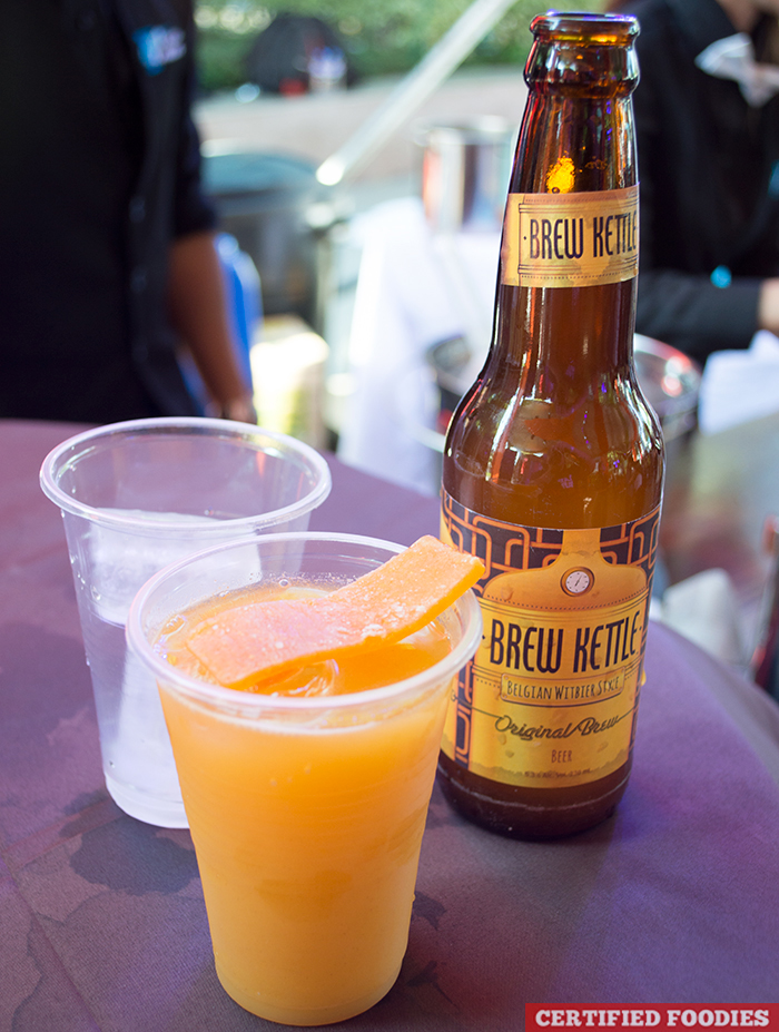 Mango Ginger Smash Cocktail and Brew Kettle Beer from McCormick Flavor Nation Festival