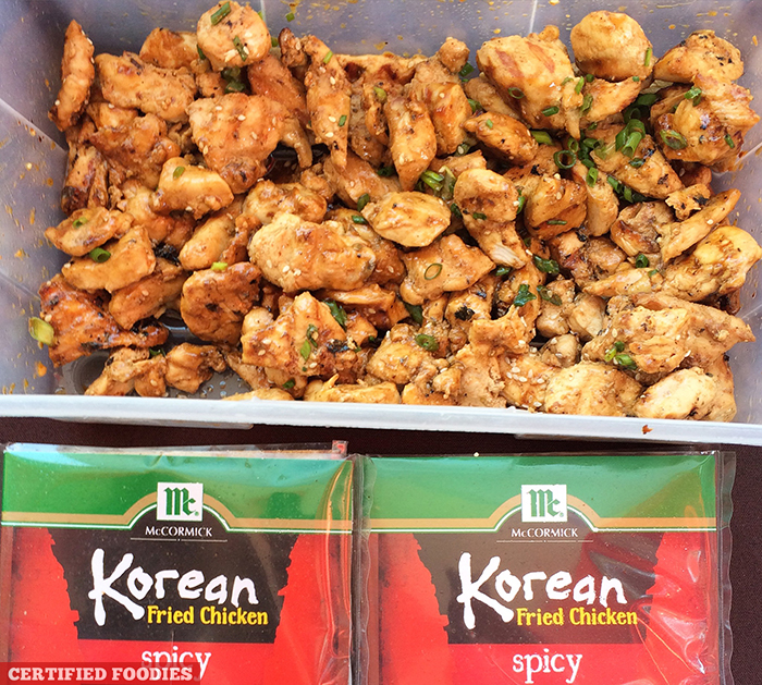 McCormick Korean Fried Chicken Mix at McCormick Flavor Nation Festival