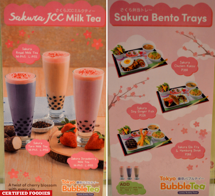 New Sakura Season Menu at Tokyo Bubble Tea
