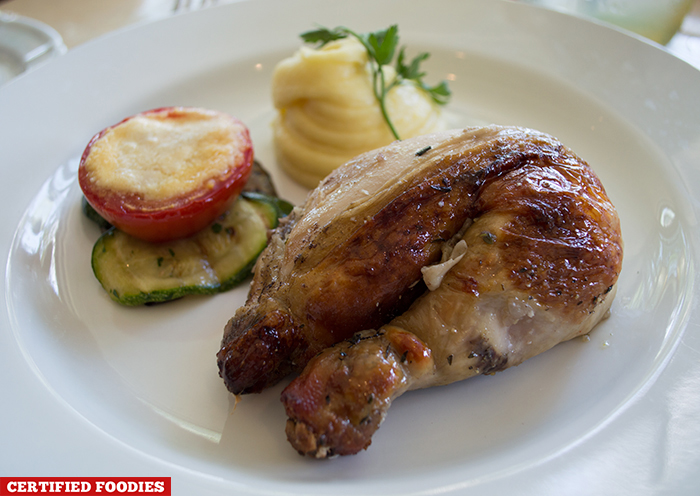 Plate of Herb Roasted Chicken from Restaurant Verbena in Discovery Country Suites Tagaytay