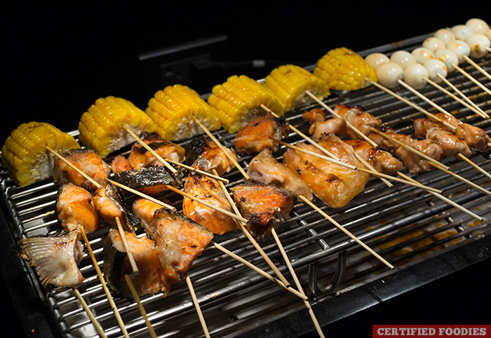 Grilled Items at the Grilling Station of Sambo Kojin SM Megamall Branch