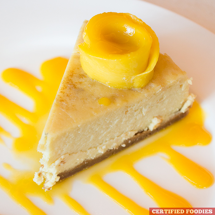 Mango Cheesecake from Highlands Prime Steakhouse at Estancia Mall Capitol Commons