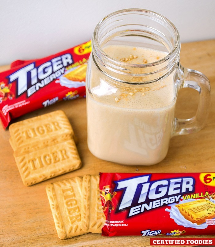 Tiger Energy cookie smoothie with peanut butter
