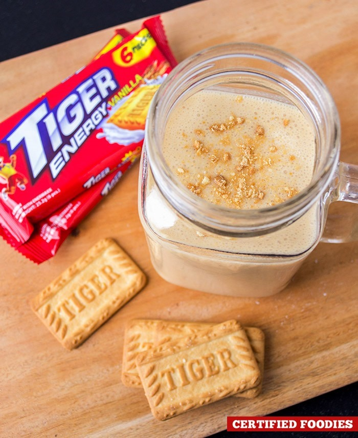 Tiger Energy cookies and peanut butter smoothie