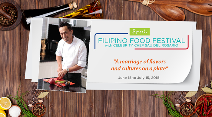 Chef Sau del Rosario for the Filipino Food Festival at Fresh Restaurant Solaire Resor and Casino