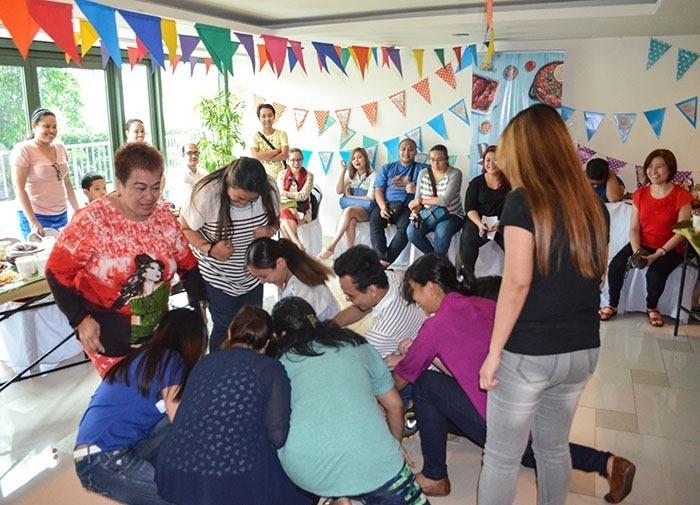 Agawan sa Dahon at our Clara Ole Potluck Fiesta party