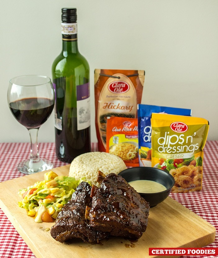 BBQ Baby Back Ribs goes well with a glass of red wine