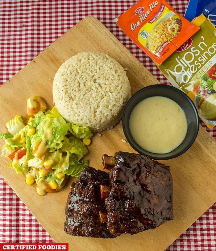 BBQ Baby Back Ribs using Clara Ole products