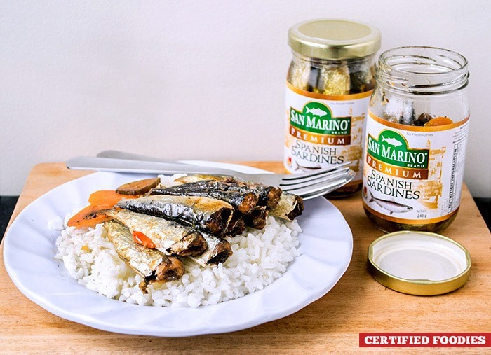 San Marino Premium Spanish Sardines - best enjoyed with a big serving of steamed rice